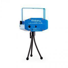 Ibiza Firefly Showlaser fényeffektus, mini lézer, multipoint, 130 mW, kék, állvány