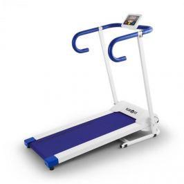 Klarfit Pacemaker X1 futópad, 10 km/h, tréning számítógép, fehér-kék