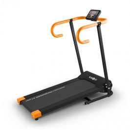 Klarfit Pacemaker X1 futópad, 10 km/h, tréning számítógép, fekete-narancssárga