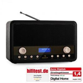 Auna Digidab, retró DAB/DAB+ digitális rádió, hordozható, FM/AM, PPL, ébresztő