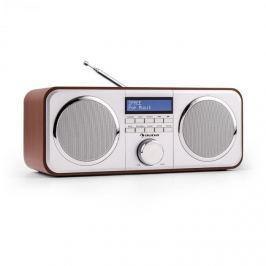 Auna Georgia DAB rádió, DAB+, FM, tárolható állomások, ébresztőóra, AUX, cseresznye