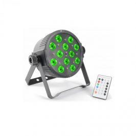 Beamz FlatPAR, 12 x 3 W, tri color LED, DMX IR, távirányító mellékelve