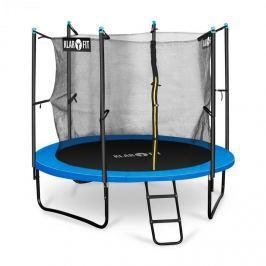 Klarfit Rocketboy 250, 250 cm trambulin, belső biztonsági háló, széles létra, kék