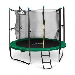Klarfit Rocketstart 250, 250 cm trambulin, belső biztonsági háló, széles létra, zöld