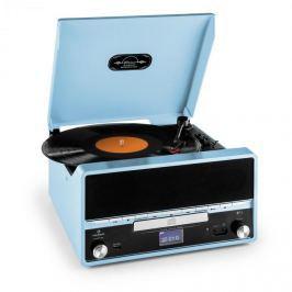 Auna RTT 1922, retro sztereó rendszer MP3 CD USB FM AUX felvételkészítés funkcióval, kék