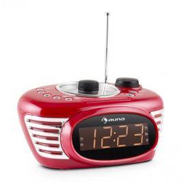 Auna RCR 56 RD, retro rádió ébresztőóra, FM, AUX, duális ébresztő, piros