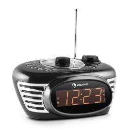 Auna RCR 56 BK, fekete, retro rádió ébresztőóra, AUX, FM és kettős ébresztés