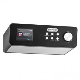 """Auna KR-200, fekete, konyhai rádió, beépíthető, 2,4"""" színes kijelző, WiFi, DAB+"""