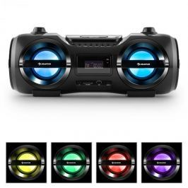 Auna Soundblaster M, max. 50W, boombox bluetooth 3.0-val, CD/MP3/USB, FM, LED
