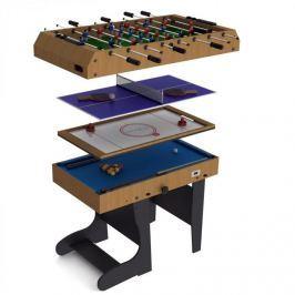 Riley 4 in 1, összecsukható játékasztal 11 játékkal, hoki, foci, biliárd