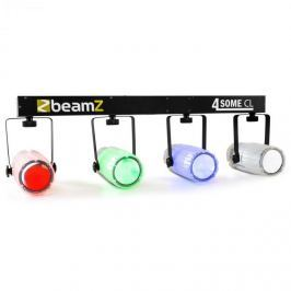 Beamz 4-Some Clear RGBW-LED fény szett, DMX mikrofon