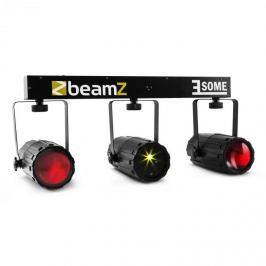 Beamz 3-Some RGBW-LED fény szett, multipont lézer mikrofon