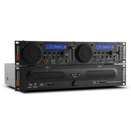 Power Dynamics Power Dynamic PDX115, kettős DJ-CD-Player-Controller SD, USB, CD, MP3, rackre szerelhető