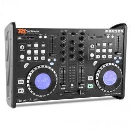 Power Dynamics PDX125, kettős DJ-Player-Controller 2 csatornás keverőpult CD, USB, SD, MP3