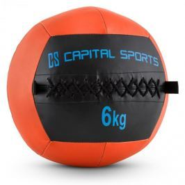 CAPITAL SPORTS Wallba 6, narancssárga, 6 kg, wall ball, műbőr