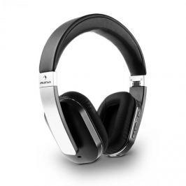 Auna Elegance, bluetooth NFC fülhallgató, akkumulátor, handsfree, műbőr, alumínium, aptX