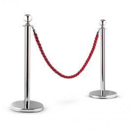 OneConcept Silver Gate, ezüst/piros, kordonoszlop rendszer, két elválasztó oszlop és egy kötél