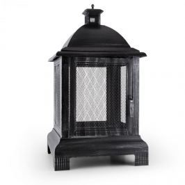 Blumfeldt Loreo, tűzrakóhely, kerti kandalló, lámpás, kerti sütő, acél, polírozott