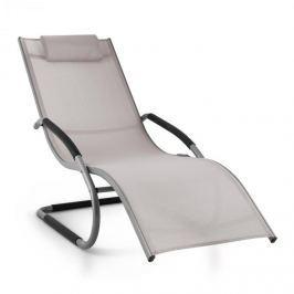 Blumfeldt Sunwave, sötétszürke/tópszínű, kerti ágy, ágy, hintaágy, relax, alumínium