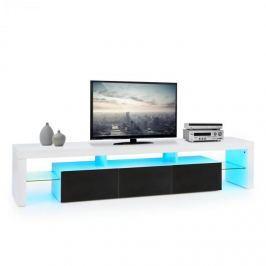 OneConcept Orlando Lowboard TV asztal, LED hangulat világítás, színváltás