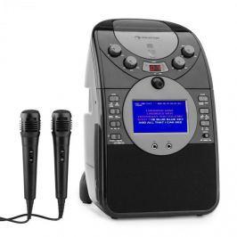 Auna ScreenStar karaoke rendszer, kamera, CD, USB, SD, MP3, 2 mikrofon, fekete