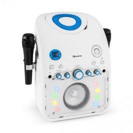 Auna StarMaker, karaoke rendszer, CD, bluetooth, AUX, LED fényhatás, 2 x mikrofon