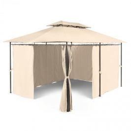 Blumfeldt Grandezza, bézs, kerti pavilon, party sátor, 3x4 m, acél, poliészter