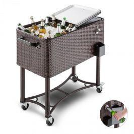 Blumfeldt Springbreak, italkocsi, hűtődoboz, zsúrkocsi teraszra, 80 l, rattan dizájn