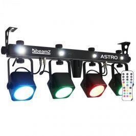 Beamz LED ASTRO, 4 utas LED fényeffekt, 4 x 10 W COB LED, DMX, lábkapcsoló