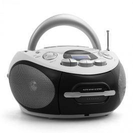 Majestic Audiola AHB-0388, hordozható boombox, CD, USB, MP3, FM/AM, kazetták