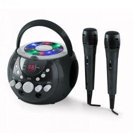 Auna SingSing, hordozható karaoke rendszer, LED, elemekkel üzemeltethető, 2 x mikrofon