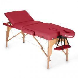Klarfit MT 500 masszázságy, 210 cm, 200 kg, összecsukható, finom felület, táska, piros