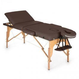 Klarfit MT 500 masszázságy, 210 cm, 200 kg, összecsukható, finom felület, táska, barna