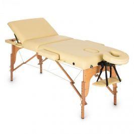 Klarfit MT 500 masszázságy, 210 cm, 200 kg, összecsukható, finom felület, táska, bézs