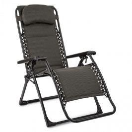 Blumfeldt California Green napozószék, kerti szék, összecsukható, kocka mintás