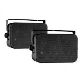 Auna CB105, fekete, passzív 2-sávos hangszóró, max. 20 W, pár, tartók mellékelve