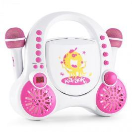 Auna Rockpocket, fehér, gyerek karaoke rendszer, CD, AUX, 2 x mikrofon, matrica készlet