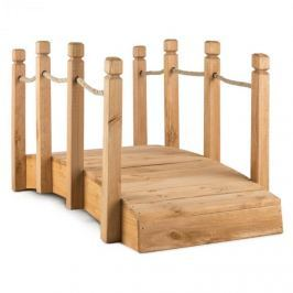 Blumfeldt Rialto kerti híd, 58x58x122cm (SZxMxM), kötél, masszív fenyőfa