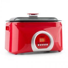 OneConcept Sanssouci, piros, Sous-Vide főző, lassú főzőedény, 5 l, 300 W