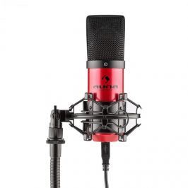 Auna MIC-900-RD, piros, USB, kondenzátoros mikrofon, kardioid, stúdió