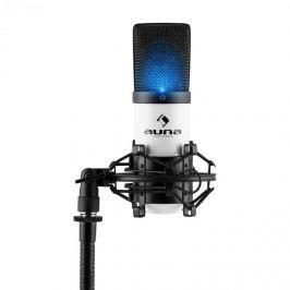 Auna MIC-900-WH LED, fehér, USB, kondenzátoros mikrofon, kardioid, stúdió, LED
