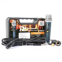 Power Dynamics PDM663, dinamikus mikrofon, XLR, kábel, tartó, adapter mellékelve