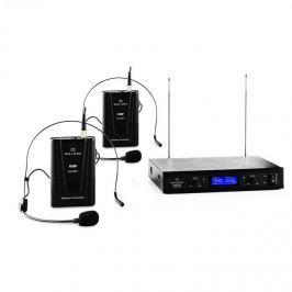 Malone VHF-400 Duo 2, 2 csatornás VHF vezeték nélküli mikrofon, 1x vevőkészülék + 2x Headset