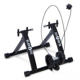 Klarfit Tourek, fekete, bicikli, szobakerékpár, otthoni edzőgép, 26/28 hüvelyk, 100 kg, acél