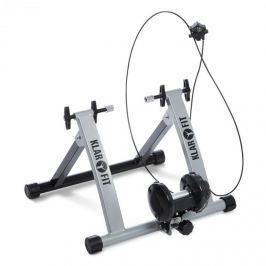 Klarfit Tourek, ezüst, bicikli, szobakerékpár, otthoni edzőgép, 26/28 hüvelyk, 100 kg, acél