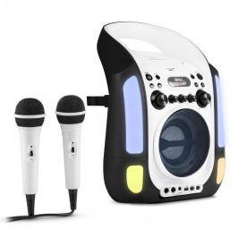 Auna Kara Illumina karaoke rendszer, CD, USB, MP3, LED fény show, 2 x mikrofon, hordozható, fekete