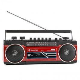 Auna Duke retró boombox, hordozható kazetta lejátszó, USB, SD, bluetooth, FM rádió