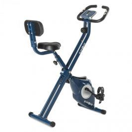 Klarfit Azura CF X-Bike szobakerékpár, max. 100 kg, pulzusmérő, összecsukható, 3 kg, kék
