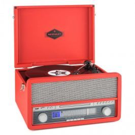 Auna Epoque 1907, retro audio rendszer, gramofon, bluetooth, MC, USB, CD, AUX