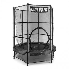 Klarfit Rocketkid, fekete, 140 cm, trambulin, belső védőháló, bungee rugók